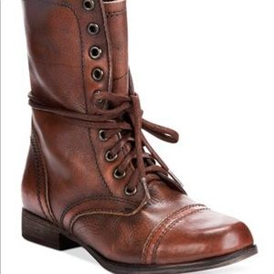 Steve Madden Brown Troopa Combat Boots